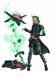 Raia, Iconic Lashunta Xenoseeker Technomancer - Starfinder RPG (Core Rulebook Art)