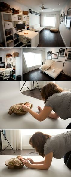 I can wish!!! Natural light photo studio. Simple, in home.
