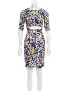 Suno Silk Printed Dress
