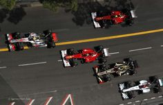 Start, Monaco, 2012. No fewer than 6 champions on the grid for the ADGP