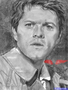 Learn How to Draw Castiel, Supernatural, Misha Collins, Portraits ...