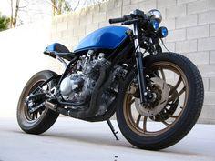 """motographite: YAMAHA XJ 550 '82 """"BEHIND BLUE EYES"""" CAFE"""