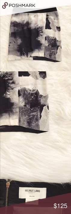 • Helmut Lang • Rare Abstract Print Mini Skirt - Helmut Lang  - Authentic  - Abstract Print  - Rare Print to Find  - Black/White  - Mini Skirt  - Size 2  - Excellent Condition Helmut Lang Skirts Mini