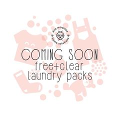 Coming soon to a laundry room near you! Stay tuned!