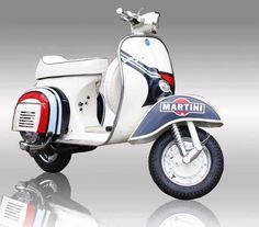 The Martini Racing Vespa Vespa Ape, Piaggio Vespa, Moto Vespa, Scooters Vespa, Lambretta Scooter, Scooter Motorcycle, Motor Scooters, Scooter Scooter, Vintage Vespa