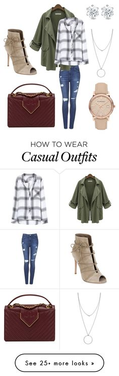 """""""Casual chic"""" by kristine-taroyan on Polyvore featuring Topshop, Chicnova Fashion, Rails, Gianvito Rossi, Burberry, Botkier and Chanel"""