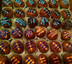 Super Bowl themed Cake Bites