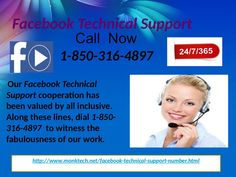 Is Facebook Technical Support 1-850-316-4897 A Reliable And Toll-Free Helpdesk? Yes, it is the best channel to contact our Facebook Technical Support experts where they will lend you a helping hand which will be quiet beneficial for the users who are encountering technical hurdles. To get in touch with our team, just give a ring at 1-850-316-4897 and you will be provided with the top solutions as quickly as possible.  For more Detail visit our site…