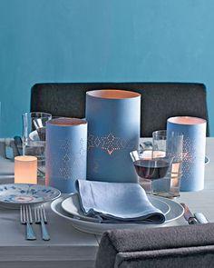 Hanukkah table top - elegant and easy.