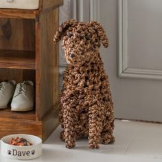 This Noodle Dog has been hand woven from seagrass with beady button eyes and nose. Stands tall and will make a most amicable companion. Charmed Characters, Dog Name Tags, British Colonial Style, Button Eyes, Dog Names, Noodles, Dogs And Puppies, Hand Weaving, Celebrities
