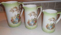 http://www.ebay.co.uk/itm/Set-3-Vintage-Graduated-Jugs-design-Scene-Waterlily-Pond-/261758179338?pt=UK_PotteryPorcelain_Glass_PotteryPorcelain_China_SM