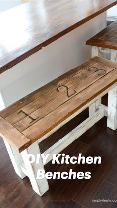 Building Furniture, Diy Furniture Plans, Diy Furniture Projects, Diy Home Decor Projects, Diy Wood Projects, Repurposed Furniture, Home Decor Furniture, Furniture Makeover, Kitchen Benches