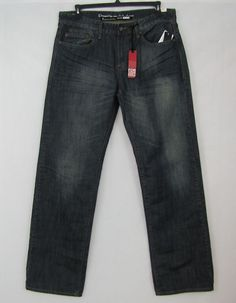 i jeans by Buffalo Taylor Men's Easy Straight Jeans Big & Tall Sizes 36, 42 NEW #ijeansbyBuffalo #EasyStraight 24.99