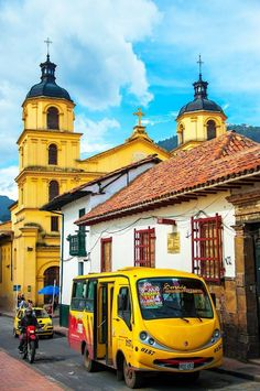 La Candelaria, Bogota, the capital of Colombia (very famous city in colombia) Colombia Travel, Belize, Ecuador, Puerto Rico, Tahiti, Travel Around The World, Around The Worlds, Architecture Baroque, Uruguay