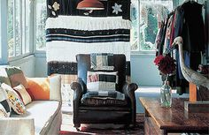 eclectic cottage craft room | living room. Interior Style In A Sydney Cottage credit: Nathalie Krag ...