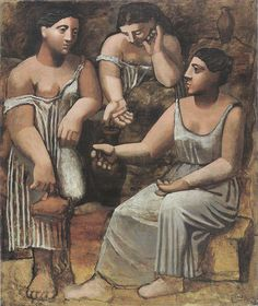 (Spanish, Three Women at the Spring. Fontainebleau, summer Oil on canvas, 8 x 68 x 174 cm). Allan D. © 2008 Estate of Pablo Picasso / Artists Rights Society (ARS), New York On view at MoMA Pablo Picasso, Kunst Picasso, Art Picasso, Picasso Paintings, Picasso Drawing, Moma Collection, Cubist Movement, Georges Braque, Edward Hopper