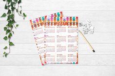 2017 Calendar Printable, INSTANT DOWNLOAD, Bohemian pattern  #art #calendar #diy #paper #2017 #decor