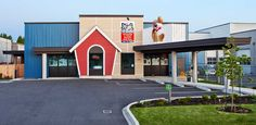 ... building which houses the doggy daycare, u-wash, professional pet