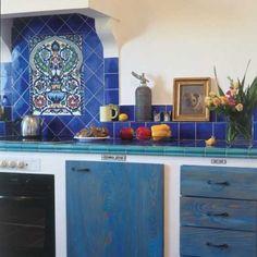 Realizacja w palecie niebieskiego Cozy Kitchen, Kitchen Dining, Buffet, Cabinet, Piece, Country, Storage, Blueberry, Furniture