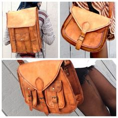 I just discovered this while shopping on Poshmark: Leather Bag travel gypsyNWT. Check it out! Price: $69 Size: OS, listed by bowscollective