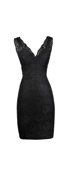 Lily Boutique Lorena Lace Bodycon Dress in Black, $36 Black Lace Bodycon Dress, Cute Little Black Dress, Black Lace Party Dress www.lilyboutique.com