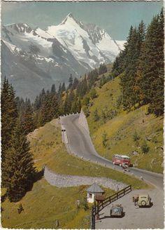 Hochalpenstrasse leading to Austria's highest peak, Grossglockner (3798m)