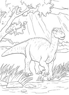 aladar gets a large river crossing coloring pages dinosaur coloring pages kidsdrawing free
