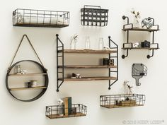Whether you're looking for a catchall or a charming display piece, stay on-trend with your storage and display solutions with modern, industrial shelving units.