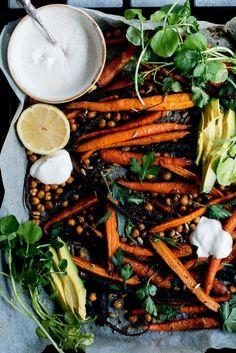 Roast Carrot, Chickpea & Avocado Salad with Cumin Honey Yogurt   The Brick Kitchen