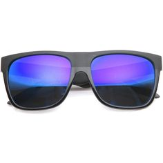 Skater Action Sports Horned Rim Flash Mirror Lens Sunglasses 9154 ($13) ❤ liked on Polyvore featuring accessories, eyewear, sunglasses, horn rimmed glasses, sporting sunglasses, wayfarer style sunglasses, skate sunglasses and mirrored wayfarer sunglasses