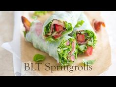 Bacon Lettuce and Tomato BLT Spring Roll Recipe - a non-Asian take.