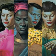 Tretchikoff Project - Tretchi Prints, Cushions & Postcards African History, African Art, Nostalgic Art, Hula Dancers, Portrait Art, Box Art, Black Art, Female Art, Art Decor