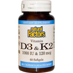 did i pin this? i hope i pinned this - Natural Factors 1000iu Vitamin D3 and natto derived K2 affordably priced
