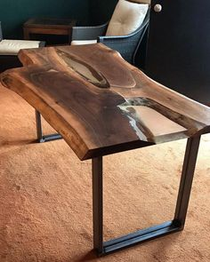 Amazing table has been delivered! Live Edge Black Walnut #diningtable with Steel Base