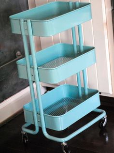 Yet Another Excuse to Shop at IKEA {Industrial Style Kids' Art Cart}