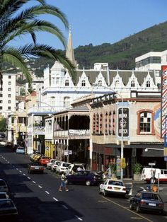 Long Street in the Centre of Town, Examples of Colonial building styles. - Cape Town, South Africa