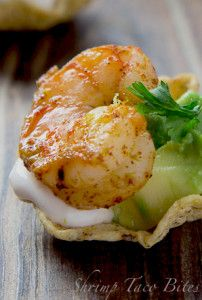 Shrimp Taco Bites- How cute would these be to do , maybe with chicken and beef?