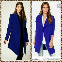 Royal Blue Long Blazer Royal Blue Long Blazer   Beautiful Blazer perfect for Spring  with some shorts or skinny jeans   I love this blazer is just to big for me   Only worn once  like new Aryn K Jackets & Coats Blazers