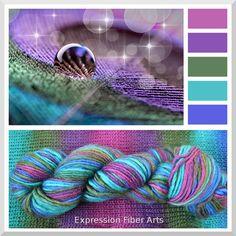 "PEACOCK DEWDROP- Color Shifting Gradient ""Spectrum"" Wool Worsted Wt Yarn - 175 yd/100 g"