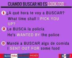 Spanish vocabulary - Buscar