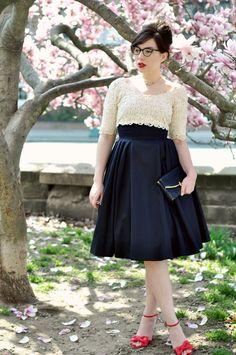dress (with full petticoat underneath) - vintage