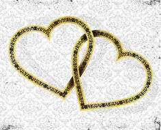 GOLDEN HEARTS ORNATE VECTOR
