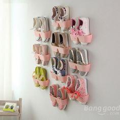 Creativo pared de zapatos colgante colgar guardar zapatos espaciales titular - Banggood Móvil