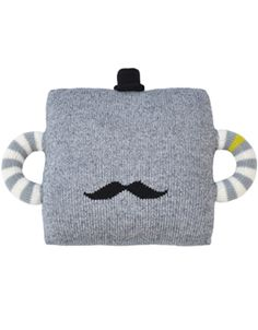 Hold Me Tight Mustache Pillow -- perfect for a little boy's room. Via blabla