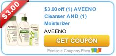 $3.00 off (1) AVEENO Cleanser AND (1) Moisturizer
