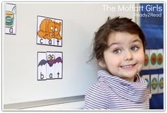 CVC Puzzles that snap together with MAGNETS!  TONS of fun, hands-on and engaging activities for BEGINNING Readers!