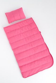Amazon.com: Slumber Party - Pink sleeping bag with a pillow - 18 inch American Girl Doll Accessories: Toys & Games