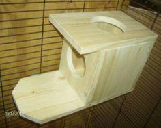 New wooden peekaboo house - kiln-dried pine shelf Chinchilla Safe Cage Accessory Small Pet