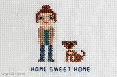 Virginia and Charlie: Cross Stitch Charlie and Me