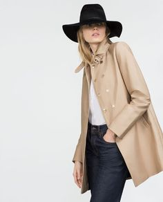 Image 7 of COTTON TRENCH COAT from Zara